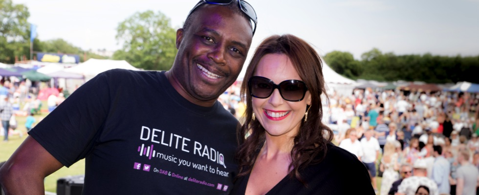 Chris with Daisy Hicks at Summer Soulstice 2018. Photo by Paul Hodson © Summer Soulstice Ltd.