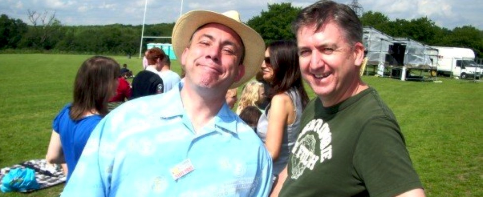 Mark with Gavin Page at the very first Summer Soulstice in 2007. Photo by Jester © Summer Soulstice Ltd.